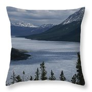 Snow-capped Moutains Rise Throw Pillow