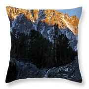Snow Capped Ridge Throw Pillow