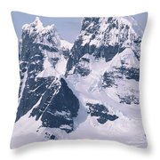 Snow-covered Mountains On Wienke Throw Pillow