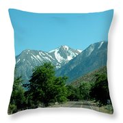 Snow Covered Pass Ahead Throw Pillow