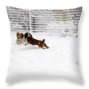 Snow Day Play Throw Pillow