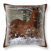 Snow Dreams Throw Pillow