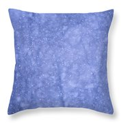 Snow Falling In The Forest Throw Pillow