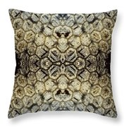 Snow Fence - Abstract Throw Pillow