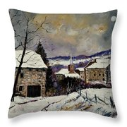 Snow In Gendron Throw Pillow