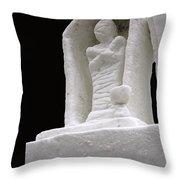 Snow Mummy Throw Pillow