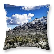 Snow On The Superstitions  Throw Pillow