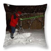 Snow Researcher Throw Pillow