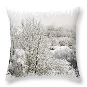 Snow Scene 1 Throw Pillow