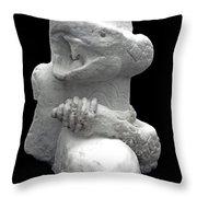 Snow Serpent Nagini Throw Pillow