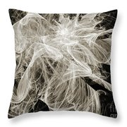 Snow Storm Abstract Throw Pillow