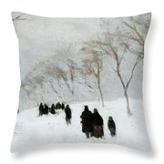 Snow Storm Throw Pillow by Anton Mauve