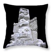 Snow Totem Pole Throw Pillow