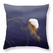 Snow Weed Throw Pillow