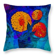 Snowball Plant Abstract 2 Throw Pillow