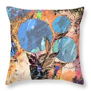 Snowball Plant Abstract 3 Throw Pillow