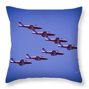 Snowbird V Formation Throw Pillow