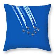 Snowbirds At Airshow Throw Pillow