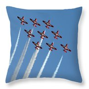 Snowbirds In The Big Diamond Formation Throw Pillow