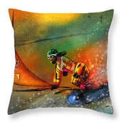 Snowboarding 03 Throw Pillow