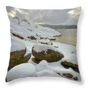 Snowcapped Throw Pillow
