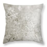Snowflake In White Throw Pillow