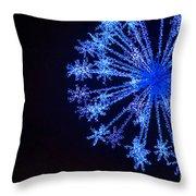 Snowflake Sparkle Throw Pillow