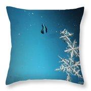 Snowflakes On My Window Throw Pillow