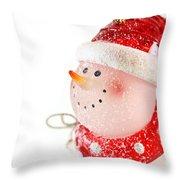 Snowman Figure Throw Pillow
