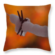 Snowy Halloween Throw Pillow