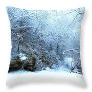 Snowy Morn Throw Pillow