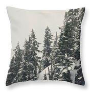 Snowy Ridge Near Snoqualmie Pass Throw Pillow