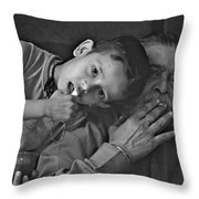 So Happy With Grandfather Throw Pillow