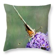So What Butterfly Throw Pillow