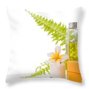 Soap Throw Pillow by Atiketta Sangasaeng