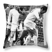 Soccer Match, C1970 Throw Pillow