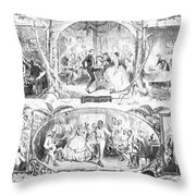 Social Activities, 1861 Throw Pillow by Granger