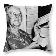 Social Security, 1940 Throw Pillow