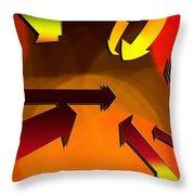 Socializing Arrows Throw Pillow