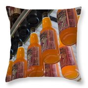 Soda Bottles Throw Pillow