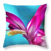 Soft And Delicate Cactus Bloom 3 Throw Pillow by Kaye Menner