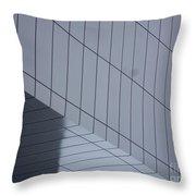 Soft Gray Glass Throw Pillow