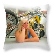 Soft N Sweet Harley Chopper  Throw Pillow
