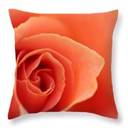 Soft Rose Petals Throw Pillow