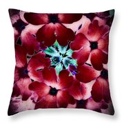Soft Scarlet Floral Throw Pillow