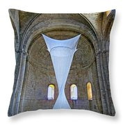 Soft Sculpture In A Monastery Throw Pillow