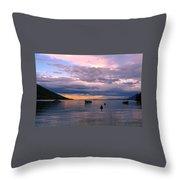 Soft Water Metal Throw Pillow