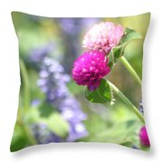 Softness In The Garden Throw Pillow