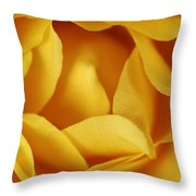 Softness In Yellows Throw Pillow