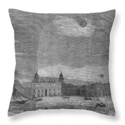 Solar Eclipse, 1858 Throw Pillow